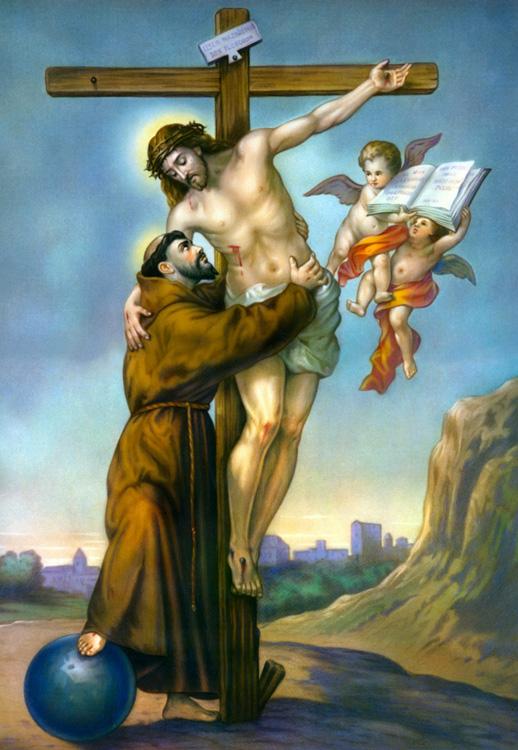 Risultati immagini per San Francesco d'Assisi e Gesù